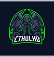 cthulhu e-sport mascot logo design vector image