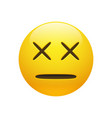 dead emoticon with cross eyes vector image vector image