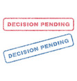 decision pending textile stamps vector image vector image
