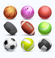 different 3d sports balls collection vector image vector image