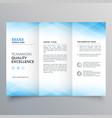 elegant blue trifold brochure flyer design vector image vector image