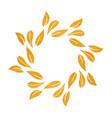 Elegant gold textured floral frame