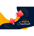 festival background for makar sankranti with vector image vector image