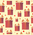 festive presents box triangle shape pattern vector image