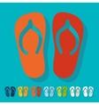 Flat design slippers vector image