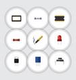flat icon appliance set of resistor destination vector image vector image