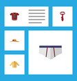 flat icon clothes set of cravat underclothes vector image vector image