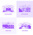 flat line purple designed concepts 17 vector image vector image