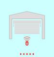 garage door set it is color icon vector image vector image