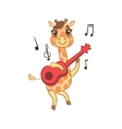 Giraffe Playing Guitar vector image