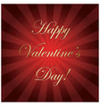 gold and red background - happy valentines day vector image vector image