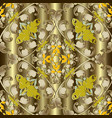 gold baroque seamless pattern ornamental drapery vector image
