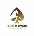 golden horse casino logo template vector image vector image