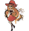 Halloween Witch Red vector image