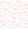 hand drawn seamless pattern with woman lips vector image vector image