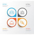 happy icons set collection of firecracker vector image vector image