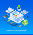 international accounting day concept background vector image