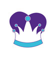 king crown in color sections silhouette vector image