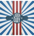 Labor Day Badge on striped Backround vector image