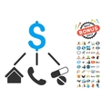 Life Expenses Icon With 2017 Year Bonus Symbols vector image vector image