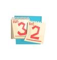 Loose-leaf Calendar Weekend Pages vector image