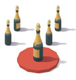 low poly sparkling wine vector image vector image