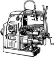 machine tool vector image vector image