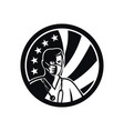 male nurse wearing surgical mask usa flag mascot vector image
