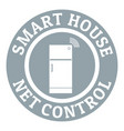 net control logo simple gray style vector image vector image