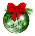 new year ball with red bow vector image