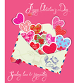 ornament hearts envelope 2 380 vector image vector image