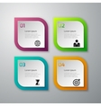paper squares infographics vector image