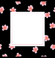 peach blossom banner on black background vector image