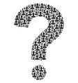 question mark mosaic of person icons vector image vector image