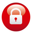 red lock emblem icon vector image vector image