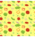 Salad seamless pattern Vegetables salad with spice vector image vector image