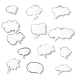 Set of comic 3d speech bubbles icon Thought vector image vector image