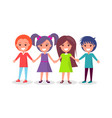 smiling kids set boys and girls in color cloth vector image