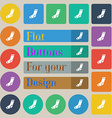 socks icon sign Set of twenty colored flat round vector image vector image