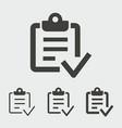 survey icon vector image