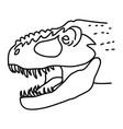 tyrannosaurus rex icon doodle hand drawn or black vector image