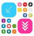 user interface buttons design set vector image