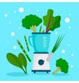 vegan mixer concept background flat style vector image