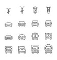 vehicle icon set vector image vector image