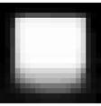 vignette pixel grunge white stain on black vector image vector image