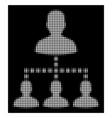 white halftone people hierarchy icon vector image