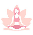 woman sitting in lotus position vector image vector image