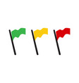 yellow green red flag icon in flat design style vector image