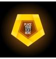 Yellow penthagon shape on dark background vector image vector image