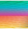 rainbow with diamonds bold geometric vector image
